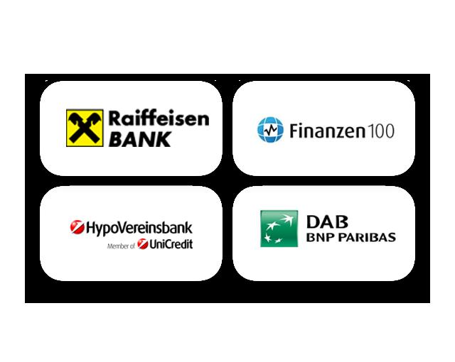 DAB Bank, Hypovereinsbank , Finanzen100, Raiffeisen Bank